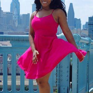 OLD NAVY Hot Pink Babydoll Dress